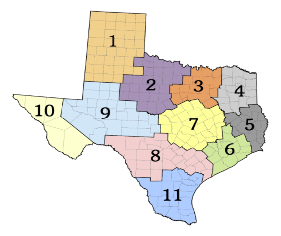 Texas CPT Registry Map